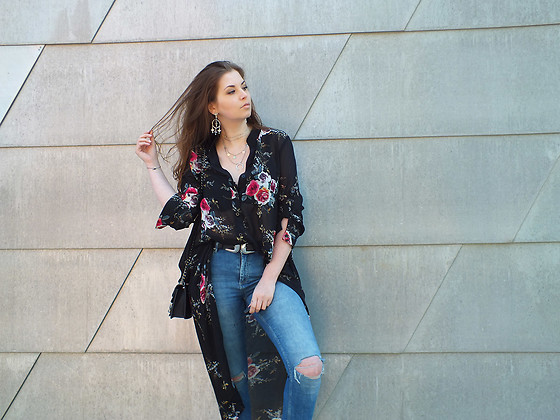 OH ANNE (BLOGGER) -  - LONG FLOWER BOUSE by SHEIN