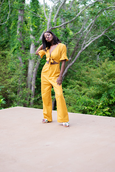 Iféoluwa Anani - Asos Cut Out Jumpsuit, Forever 21 Floral Flats - Fly Me Away