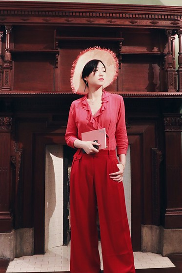 Yueming - Mossant Straw Hat - All Red