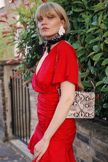 Carla V - Zaful Dress, Asos Bag - Red