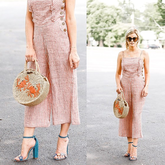 Kim Tuttle -  - Striped linen jumpsuit