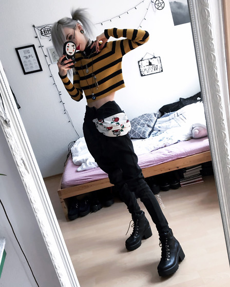 Kimi Peri Koi Footwear Platform Boots Na Kd Knor Suiting Pants Petals And Peacocks Rose Waist Bag You Are My Poison Striped Cropped Sweater Solrayz Moonstone Necklace Round Glasses Bumblebee Lookbook All coupons deals free shipping verified. koi footwear platform boots na kd knor