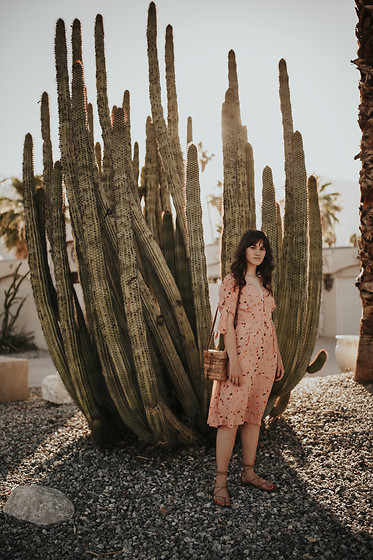 Tonya S. - Faithfull The Brand Nina Midi Dress, Urban Outfitters Gladiator Sandals - Cactus at Golden Hour