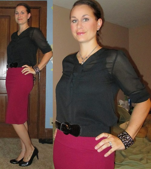 Erin Solberg -  - Simple Black and Burgundy