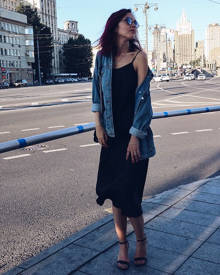 Daria Harman - Zara Denim Jacket, Steve Madden Heels, Intimissimi Dress - Traffic