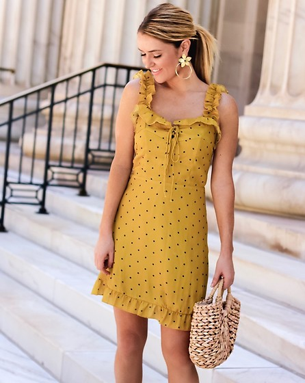Amber Wilkerson - Dress, Earrings, Bags - POKA DOT DRESS