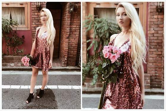 ♡Anita Kurkach♡ - Shein Dress - Rose Gold
