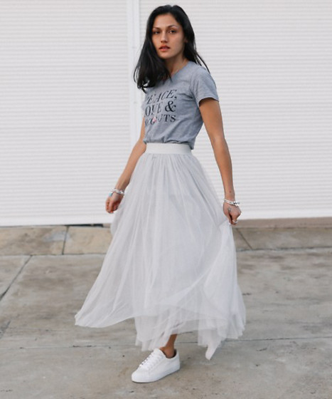 Shann V - As Peace, Love & Coconuts, Tulle, Asos Trainers - Tulle Skirt With Trainers