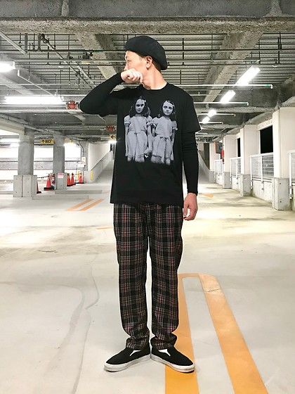 ★masaki★ - Shining Movie Tee, Dogpile Plaid Pants, Vans Vault - Twins