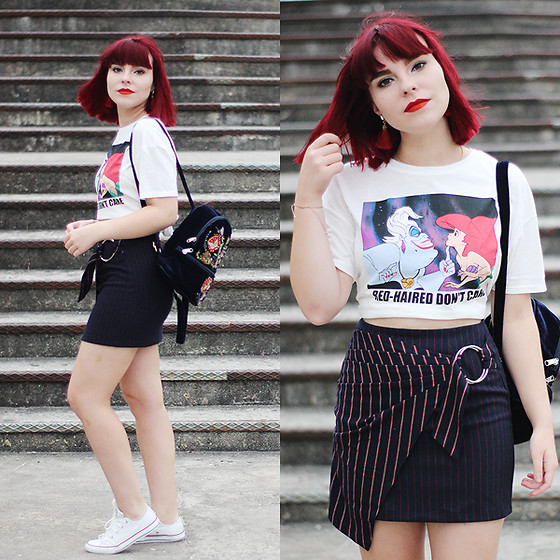Carina Gonçalves - Lefties T Shirt, Bershka Skirt, Converse Sneakers - And sooner or later it's over I just don't want to miss you