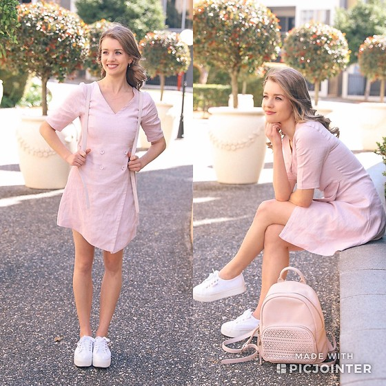 Heidi Landford - Zulu And Zephyr Dress, Superga Sneakers, Forever New Backpack - Colour Of Spring