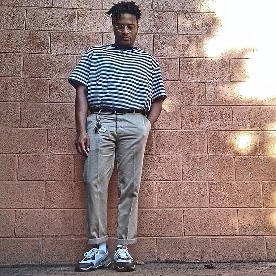 Jason - Puma Electric Thunder, Dockers Khakis, Faded Glory Striped Tee - Labor day Wknd
