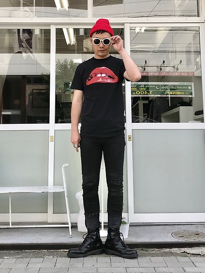 ★masaki★ - The Rocky Horror Picture Show Tee, Neuwdenim Jeans, Dr. Martens Allblack 8hole - ENTRANCE