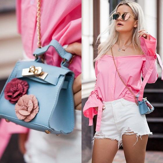 Cristina Tabun - Yoins Blouses, Zaful Sunglases, Rosegal Bag - Pink dreams
