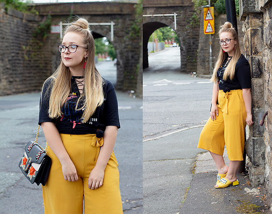Emma Reay - Shein Yellow Culottes - Yellow - The New IT Colour