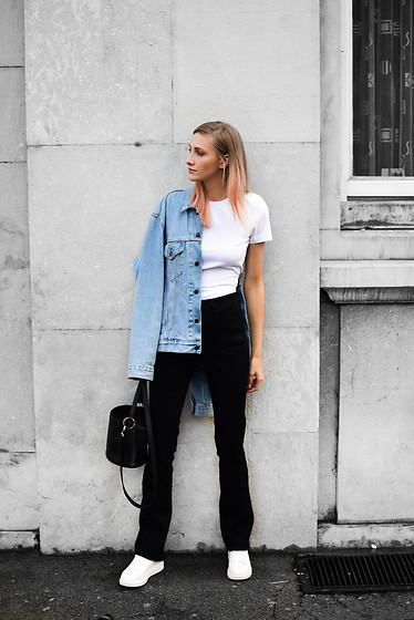 Katarina Vidd -  - How to wear wide leg jeans