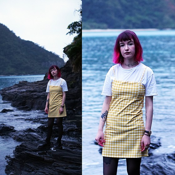 Lea B. - Pull & Bear Dress, Dr. Martens Shoes - Tokashiki Island