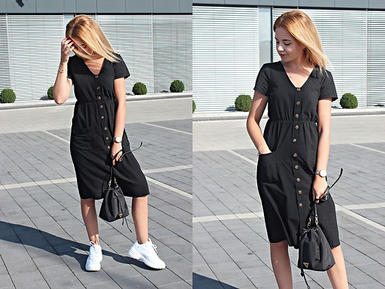 Sabina S. -  - BLACK DRESS + WHITE SNEAKERS