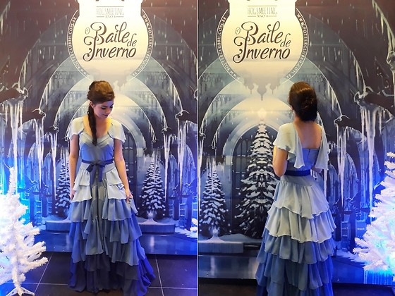 Luly Lage - Eva Cosmaker Hermione Granger Yule Ball Blue Dress, Beira Rio Blue Shoes - Make it blue!