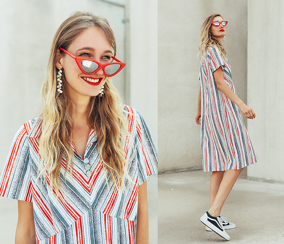 Eva Velt - Asos Sunnies, Second Hand Dress, Vanz Sneakers, Laura Christmann - Laura Christmann earrings and secondhand dress