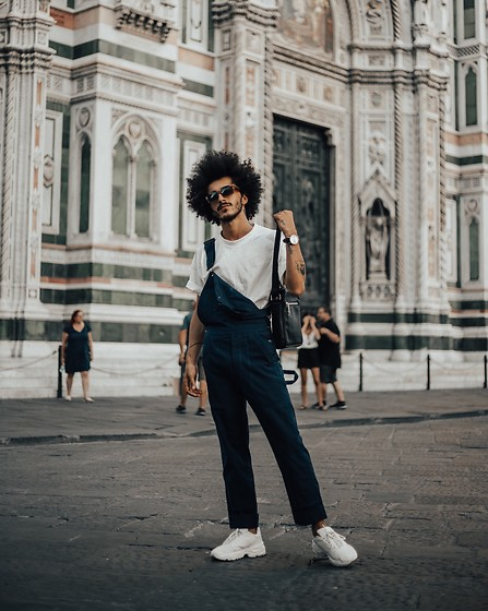 Marco Moura - Zara Sneakers, Zara Overalls, Zara T Shirt, Zara Bag - You've got my heart Florence 💙