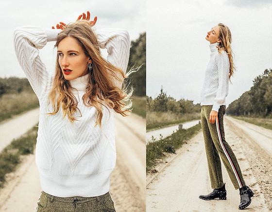 Eva Velt - Vanity Sweater, Barracuda Boots, Asos Earrings - Vanity sweater, two different looks