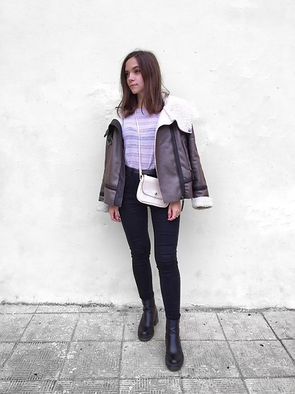 Kristina E. - Tobi Coat, New Look Top, Shein Jeans, Asos Chunky Boots - Pastel