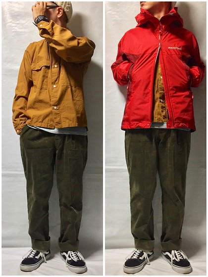 Keysyu Takagi - Global Work Shirt, Mont Bell Outer, Global Work Pants, Uniqlo Inner, Vans Shoes, Highland2000 Cap - Today outfit