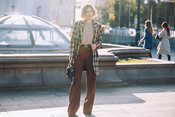 Margarita Maslova - All We Need Coat, Zara Pants, Mango Sweater - Mercedes-Benz Fashion Week Russia SS'19