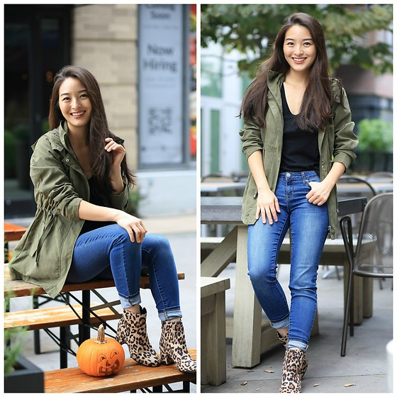 Kimberly Kong - Time And Tru Anorak - Find of the Day: The Affordable Anorak + Animal Print Boots