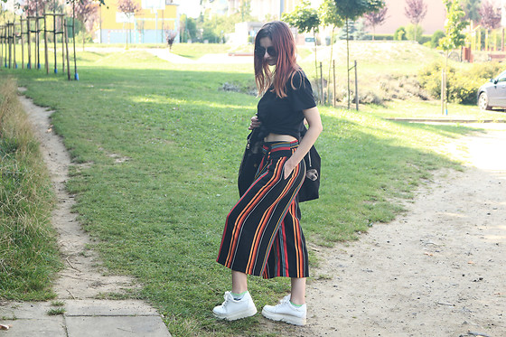 Karolina K - Diligent Striped Culottes - Fire Meet Gasoline