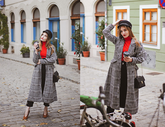 Daniela Guti - Https://Www.Tbdress.Com/Product/Winter Vintage Plaid Double Breasted Slim Fit Womens Overcoat 13028914.Html, Zara Pants - WHAT A COAT!