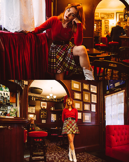 Hannah Louise - Fred Perry X Le Kilt Jumper, Fred Perry X Le Kilt - Fred Perry x Le Kilt