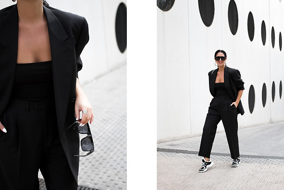 Maray - Zaful Sunglasses, Pull & Bear Top - Traje Oversize
