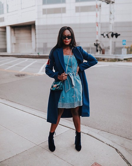 Jenn I - Cameo Collective C/Meo Denim, Blue Coat - Blue Thang