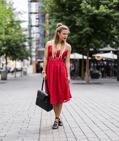 Eliska H. -  - Red Lace Dress