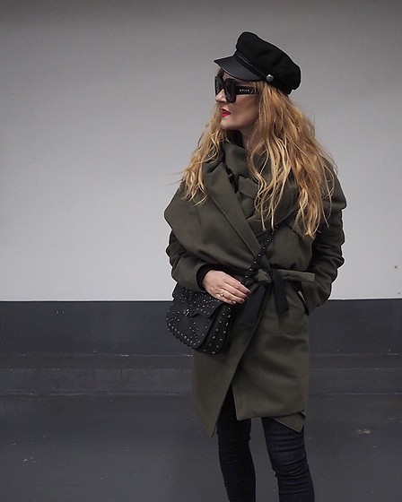Jane Bond - Pull & Bear Hat, Desigual Bag, Marko.In Coat - Designer coat