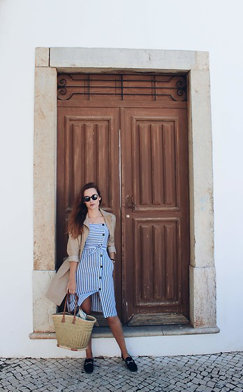 Lina . - Shein Dress, Bershka Flats - TIMELESS NAUTICAL STYLE
