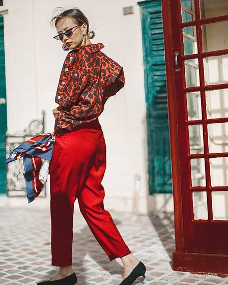 Queen Horsfall - Topshop, Topshop Red, Mango - Animal Print Trend