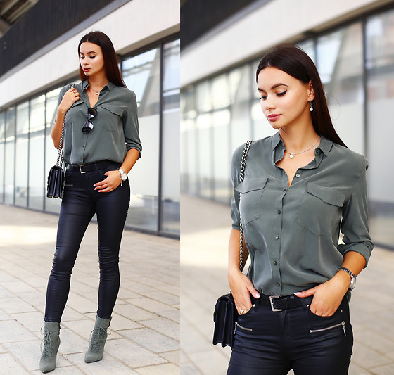 Anna Mour ♥ -  - Mixing black and khaki
