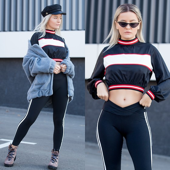 Cristina Tabun - Zaful Athleisure - Black & red vibes