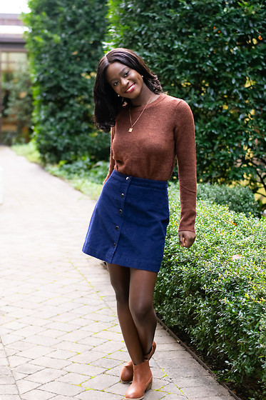 Iféoluwa Anani - Oldnavy Skirt, Target Western Boots - Suede Loving