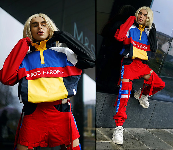 Milex X - Here's Heroine Top, Cozy Gang Pants, Buffalo Shoes - COLORBLOCKING