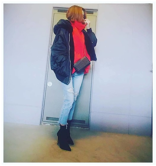 Chii - Zara Jacket, Asos Knit, New Look Boots - Big jacket♡