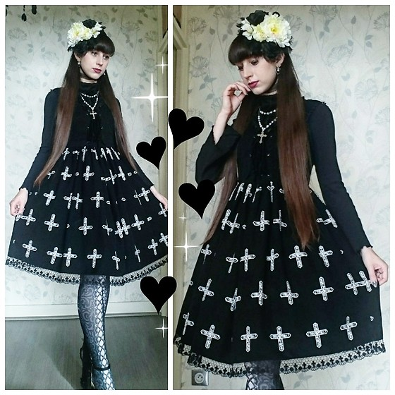 Yumi E.G. - Metamorphose Cross Jsk, Atelier 17 Tights - Crosses