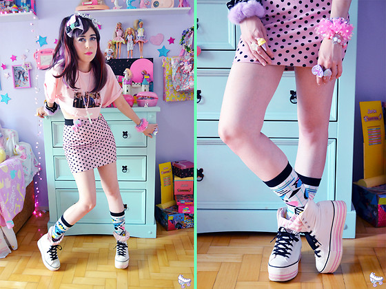 Luly Pastel Cubes - Maxstar Sneaker, Forever 21 80s - 2019