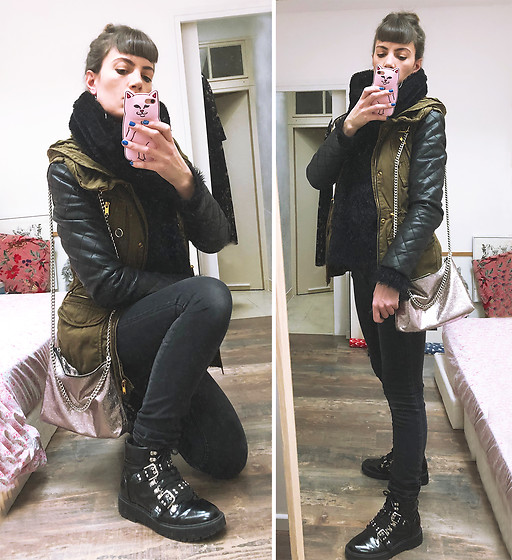 ♡Nelly Kitty♡ - Asos Studded Black Vegan Leather Boots - OOTD#59