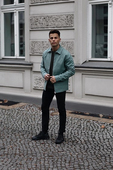 Kevin Elezaj - Nike Sneakers, Topman Jeans, Scotch & Soda Jacket - Mint