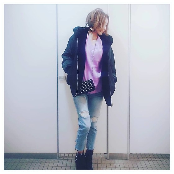 Chii - Zara Jacket, Newlook Boots, Asos Knit - 💜
