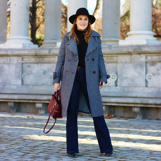 Juls Theulifestyle - - Boot cut jeans and checkered coat | LOOKBOOK